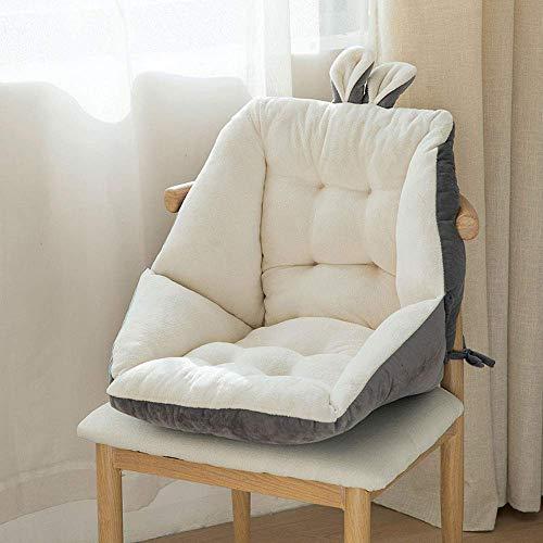 JY&WIN Cojín para silla, cojín largo para silla, suave y cómodo, cojín para asiento de respaldo para comedor, sillas de oficina (45 x 45 cm/52 x 52 cm)
