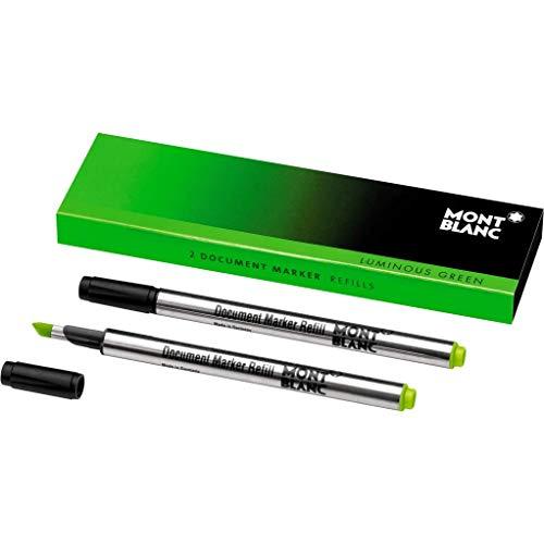 Montblanc 105169 - Refill per evidenziatori, Luminous Green (verde luminoso) – Ricariche di alta qualitá, 1 x 2 Refill