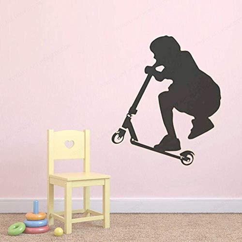 Muurstickers 48x57cm Scooter muur Art Decal Kinderen Kamer Decoratie Verplaatsbare Wanddecoratie Office Kinderkamer DIY PVC Slaapkamer