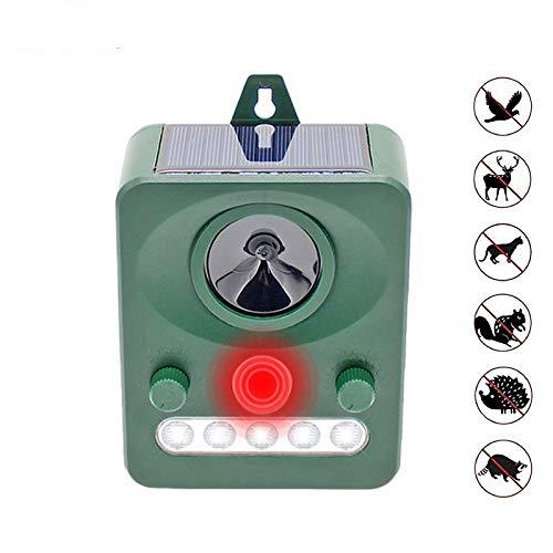 Ultrasonido y Repelente de Ratas Repelente de animales ultrasónico solar LED Luz intermitente Control de plagas Repelente Unidad Gato Pájaro Murciélago Zorros Zorrillo Mapache de protección