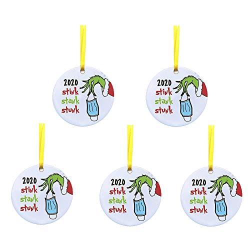 Price comparison product image Christmas Ornament 2020 / XMAS Decorations 2020 Year to Forget Christmas Ornament 2020 Santa Claus Ornaments Covid_Christmas Ornament Peace & Happiness Decorations