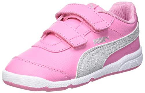 Puma Baby Mädchen STEPFLEEX 2 SL VE Glitz FS V I Sneaker, Sachet Pink Silver White, 24 EU