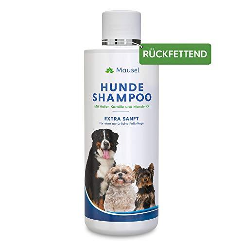 Hundeshampoo Extra Sanft 500ml - Das rückfettende Shampoo für eine natürliche Schutzschicht des Fells mit Kamille, Kokos, Aloe Vera und Mandel - Optimierte 2020 Rezeptur