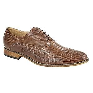Goor - Zapatos Oxford/Brogue con Cordones para Hombre (44 EU) (Marrón Tostado)