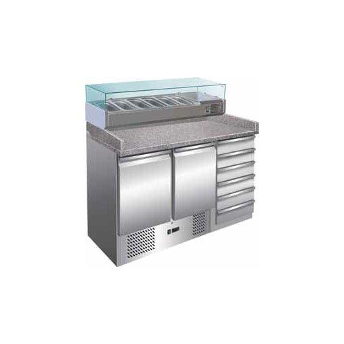 Tavolo frigorifero frigo banco pizzeria cm 142x70x140 RS2799