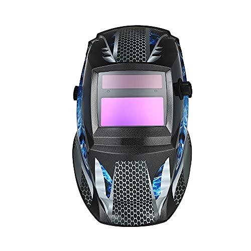 skrskr Solar Powered Welding Helmet Capilla de oscurecimiento automático Cinta ajustable para...