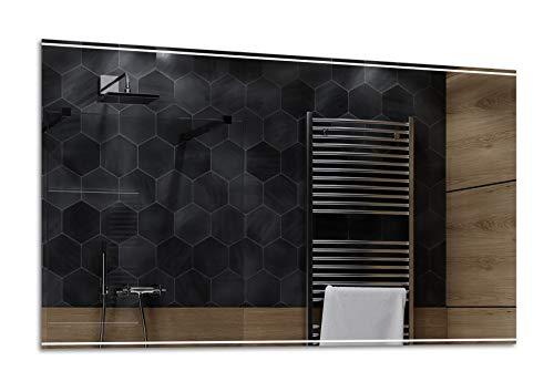 Alasta® | Badspiegel mit LED Beleuchtung | Deine Größe | Heizmatte zu Wähle | Badspiegel Wandspiegel Spiegel LED Badezimmerspiegel Lichtspiegel | Chicago