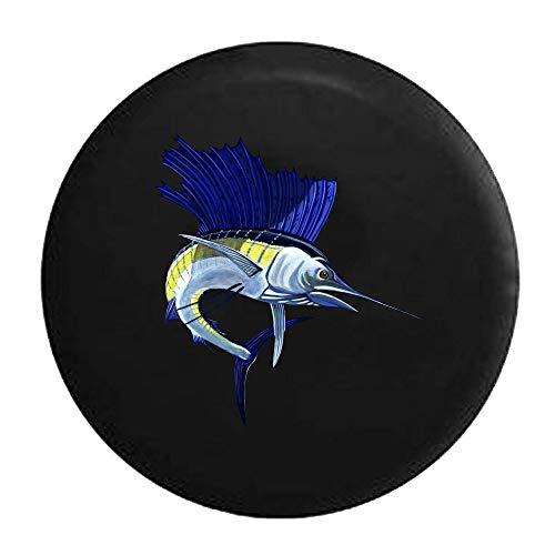 Copertone per Gommone di Ricambio per Barca A Vela da Pesca Sportiva Blue Sailfish Marlin Illimitato (Adatto per Wrangler, SUV RV Accessories) 14-17inch