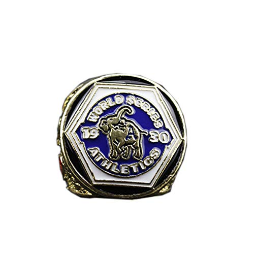 Fei Fei 1930 MLB Philadelphia Athletics Team Baseball World Championship Ring, Anello Commemorativo della Collezione di Fan,Without Box,11#