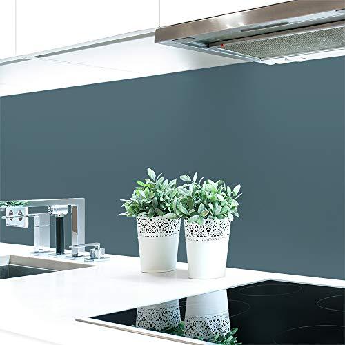Keuken achterwand grijstinten 2 effen kleuren Premium hard PVC 0,4 mm zelfklevend - direct op de tegels 120 x 60 cm blauwgrijs