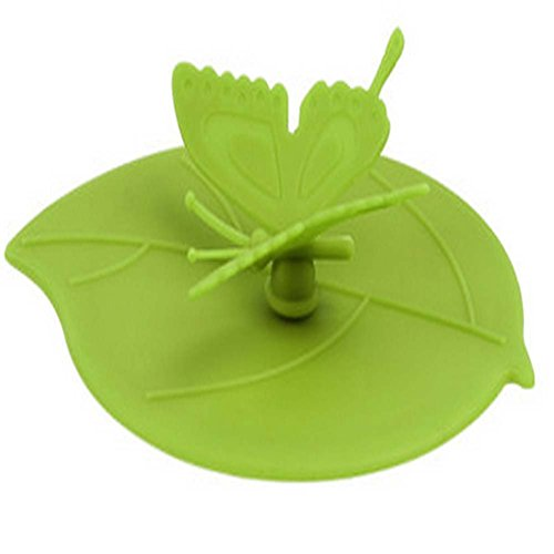 Bonne résistance à haute température Coupe Silicone Lid (vert, gratuit)