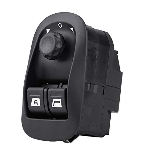 6554.WA Interruptor de control de la ventana maestra de Power Fit para 206 Elevalunas eléctrico Shift Llave lado del conductor Botón de presión Negro