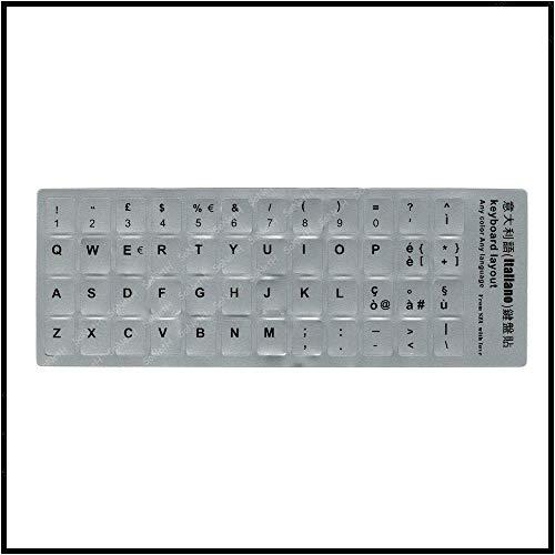 Adesivi Stickers Lettere per Tastiera Keyboard Italiana PVC Silver