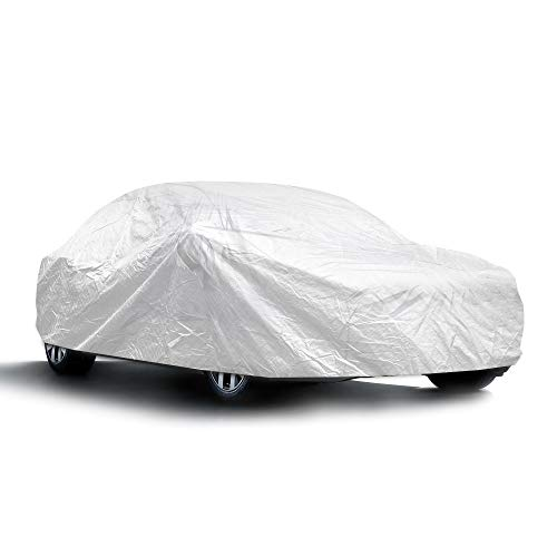 Sojoy Thick Multi-Layered Car Cover Damage for Sedan, Coupe, Hatchback in All-Weather Small Size...