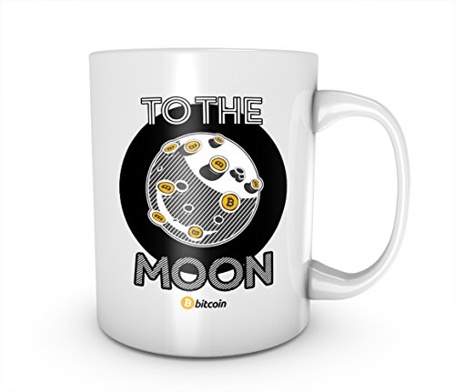 To The Moon Bitcoin Gold Cryptocurrency Blockchain Crypto Btc Keramik Tasse Kaffee Tee Becher Mug