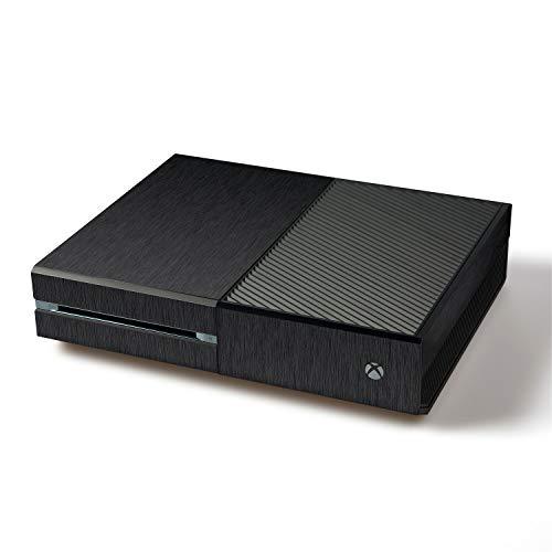 atFoliX Skin kompatibel mit Microsoft Xbox One, Designfolie Sticker (FX-Brushed-Black), Gebürstet / Bürsten-Struktur