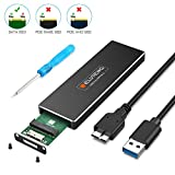 ELUTENG m2 Adaptateur USB Soutenir UASP 5Gbps SATA NGFF Boitier pour B et B + M Clé...
