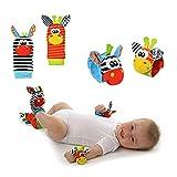 Kentop Calcetines y Muñeca para Bebé, con Juguetes, Adecuado para bebé 0-6 Meses, Sonajeros incorporados