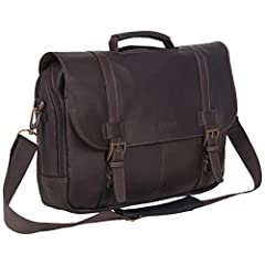★Full-Grain Genuine Colombian Leather: This business savvy laptop business portfolio is made of a luxurious cowhide Colombian leather that is very durable and ages beautifully, creating a bag that is uniquely your own.  Interior also features a fully...