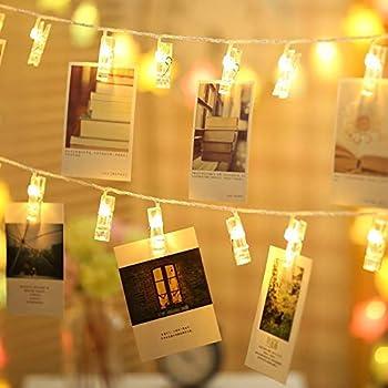 Art Street Plastic 24 Led Photo Clips String Lights(Whitefull)