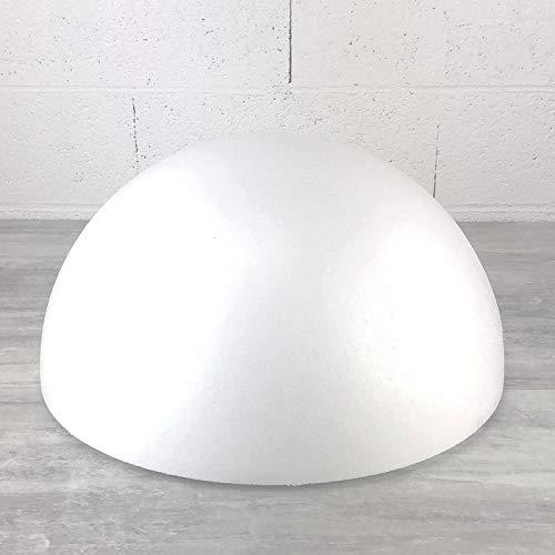 Lealoo Demi-Sphère de 50 cm de diamètre, Dôme XXL Creux en polystyrène de 25 cm de Haut
