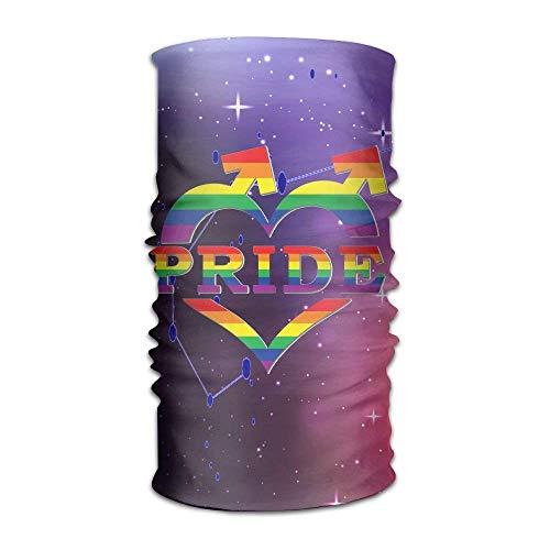 Gay Pride In Heart Shape And Arrows Unisex Sport Scarf Headbands Bandana Outdoor Sweatband Headwear