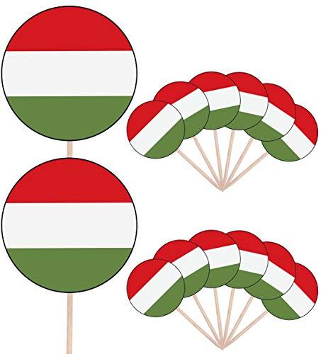 Hongerige vlag partij eten taart cupcakes plukt Sticks vlaggen staan op decoraties toppers (Pack van 14)