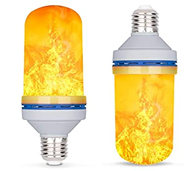 LED Flame Effect Light Bulb?Cypers E26 E27 4 Modes with Gravity Induced Decorative Light Fire Flickering Atmosphere Lighting Vintage Flaming Lamp for Holiday Hotel/Bar/Party/Home
