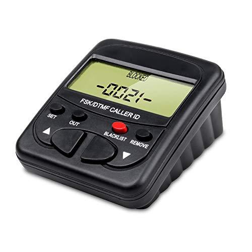 Bloqueador de llamadas de teléfono fijo telpal para teléfonos fijos con identificador de llamadas pantalla, 1500 capacidad