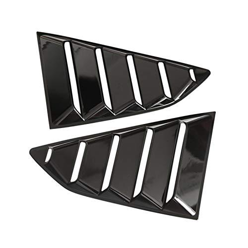 Adecuado para el coche 1 par Accesorios para automóviles Persianas de la ventana trasera Lado Tuyere Lores LOUVER VENTILADOR DE VENTILADOR VETHE VETHLETHINGERS (MATE BLACK) ( Color : Picture 1 )