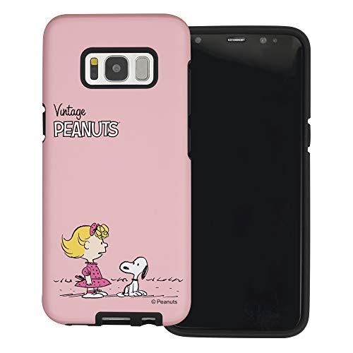 """Galaxy S8 ケース と互換性があります Peanuts Snoopy ピーナッツ スヌーピー ダブル バンパー ケース デュアルレイヤー 【 ギャラクシー S8 ケース (5.8"""") 】 (小さい スヌーピー サリー) [並行輸入品]"""