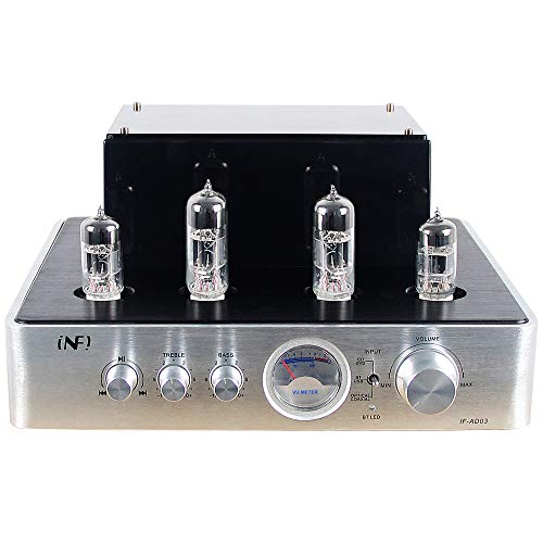 INFI Audio Tube Amplifier HiFi Stereo Receiver Integrated Amp with Bluetooth Hybrid Amp for Home 2.0Ch Theater System, Adjustment Audio Headphone Amplifier