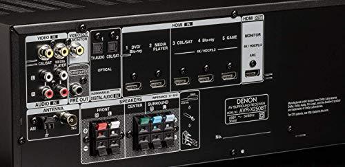 Denon AVR-X250BT Sintoamplificatori, Nero