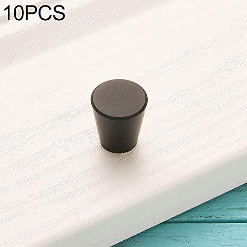Griff, Griffe, 10 PCS 9001-Einzel Big Oval Schubladenschrank Tür Aluminiumlegierung Griff, Küchenschrank Möbel Fach zieht Griffe (Color : Black)