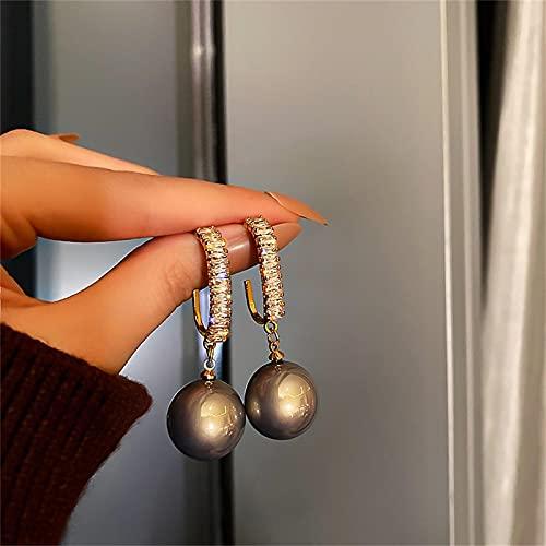 XTONG Pendientes Colgantes De Perlas - Pendientes De Perla De Plata De Ley 925 para Mujer, Regalos para Novias, Aniversario De GraduacióN A3