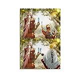 WETUO Naruto und Jiraiya Trauriges Poster, dekoratives