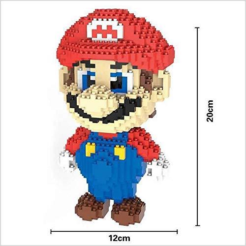 Figura Super Mario Bros Juego Bloques de construcción tamaño 20 cm DIY Mini Building Puzzle Juguete niños colección