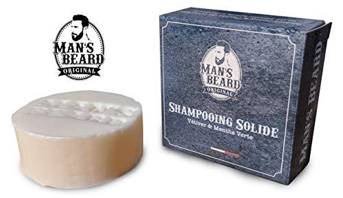 Man's Beard - Shampooing Solide Usage Fréquent 100 gr - Base Lavante naturelle certifié COSMOS BIO