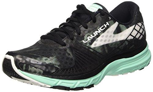 Brooks Women's Launch 3 Running Shoe Black/White/Ice Green Size 7.5 M US