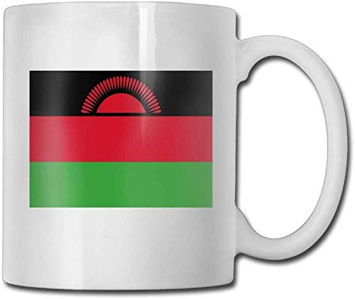 Leyhjai Kaffeetasse Flagge von Malawi Tassen Mode Keramik Kaffee Teetassen Doppelseitendruck 11 Unzen