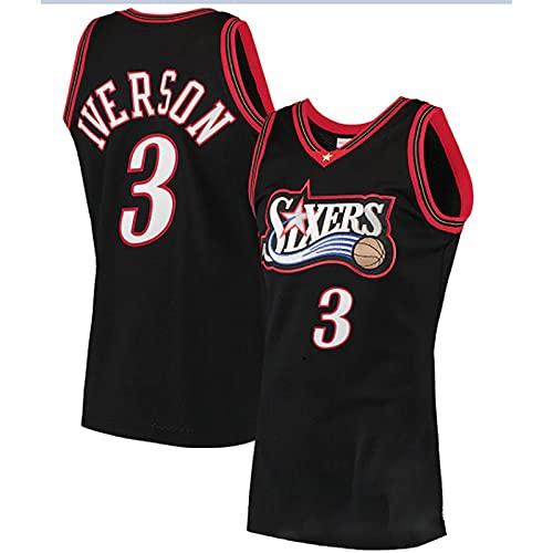 GFDDZ NBA Basketball Jersey Allen Iverson # 3 Jersey, Swingman Basketball Jersey Swingman Vintage Mesh Jersey Bordado