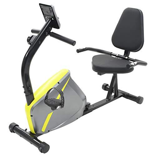 vidaXL Bicicleta Estática Reclinable Giratoria Máquina Fitness Entrenamiento