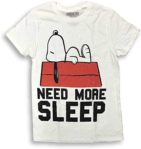 Snoopy Need More Sleep Crew Neck Adult Men's T-Shirt