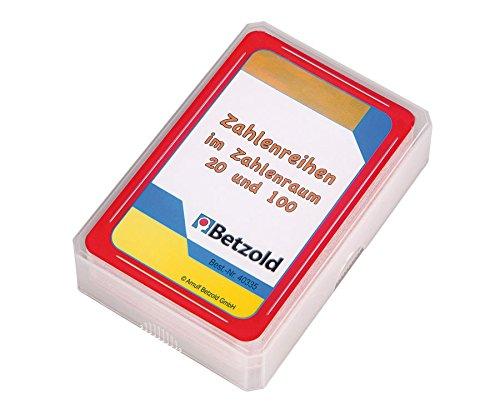 Betzold 48 Karten Zahlenreihen im Zahlenraum 20 und 100, für Klasse 1 und 2, im praktischen und stabilen Kunststoffetui - Mathematik rechne Lernen Kartenspiel Rechenspiel Grundschule Schule