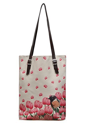 DOGO Damen Handtasche - Shopper - Schultertasche - vegan - Tall Bag - So Cute