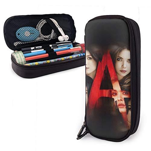 prjtty lcttlj lckrs Big Capacity Leder Mäppchen Case Pencil Pouch Box peyvw Praktische Tasche Bag Holder With Zipper Size-20cmx9cmx4cm