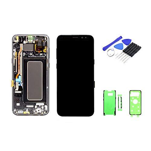 kaputt.de Display zwart (6,2 inch) voor Samsung Galaxy S8 Plus | Super AMOLED-scherm incl. DIY reparatieset