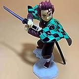 Kimetsu No Yaiba Kamado Tanjirou En Guardia Animado Vinilo Figura 5.9 Pulgadas