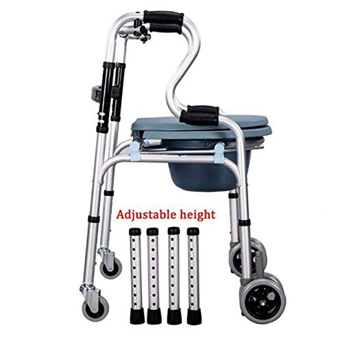 N/Z Haushaltsgeräte Rollendusche Kommodenstuhl Tragbare Mobile Nachttoilette Faltbare Gehweghöhe Höhenverstellbar Keine Werkzeuginstallation