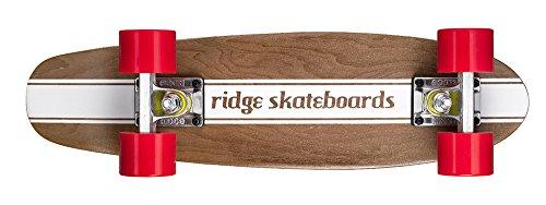 Ridge Maple Holz Mini Cruiser Number Four Skateboard, Red, MPB-22-NR4